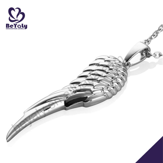 High End Silver Jewelry Angel Wings Pendants For Party