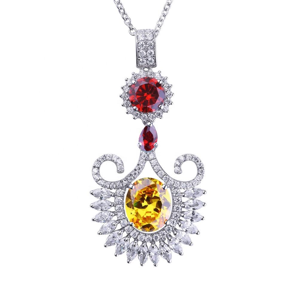 Fancy silver colored stone women accessory jewellery necklace
