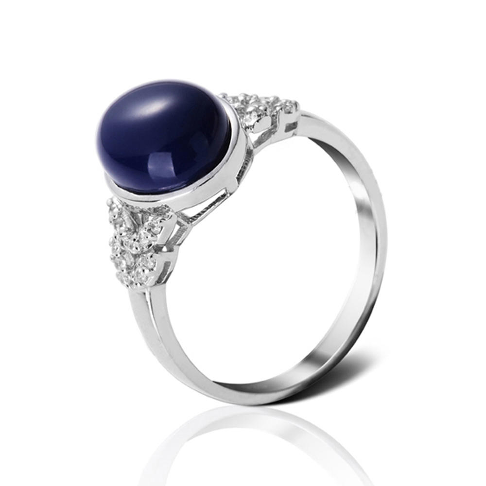 Wholesale 925 silver natural blue sapphire ring for men