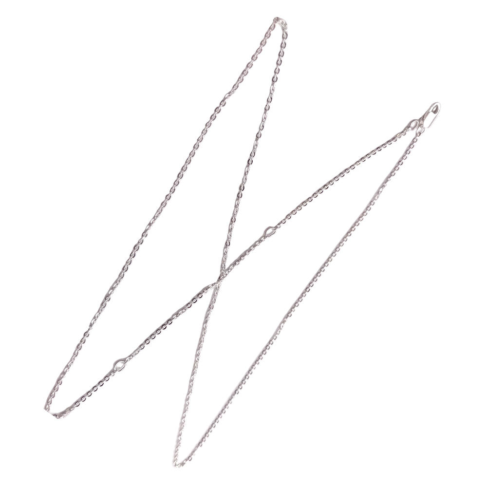 Platinum plating simple sterling silver necklace chains jewelry