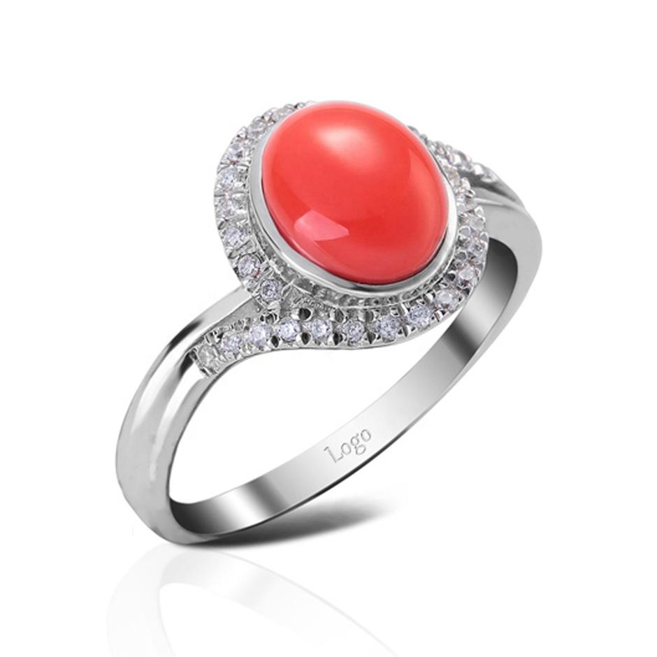 Rhodium plating cz silver red agate men's wedding rings