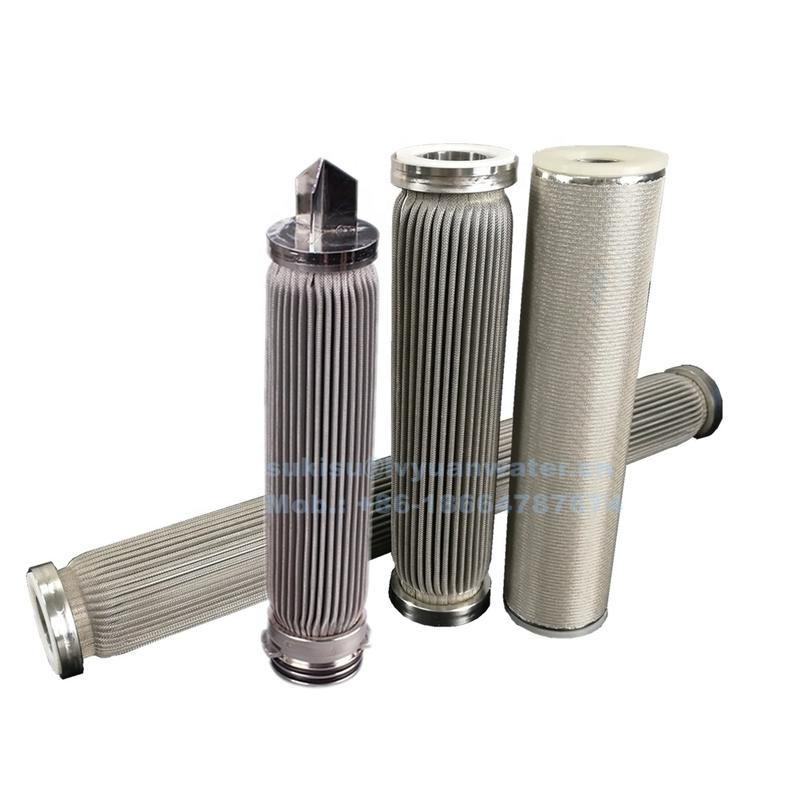 1 5 10 20 micron stainless steel mesh pleated filter cartridge for oil/water treatment