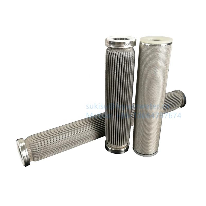 10 20 inch SUS 304/316L stainless steel pleated filter cartridge for oil/water/liquid purification
