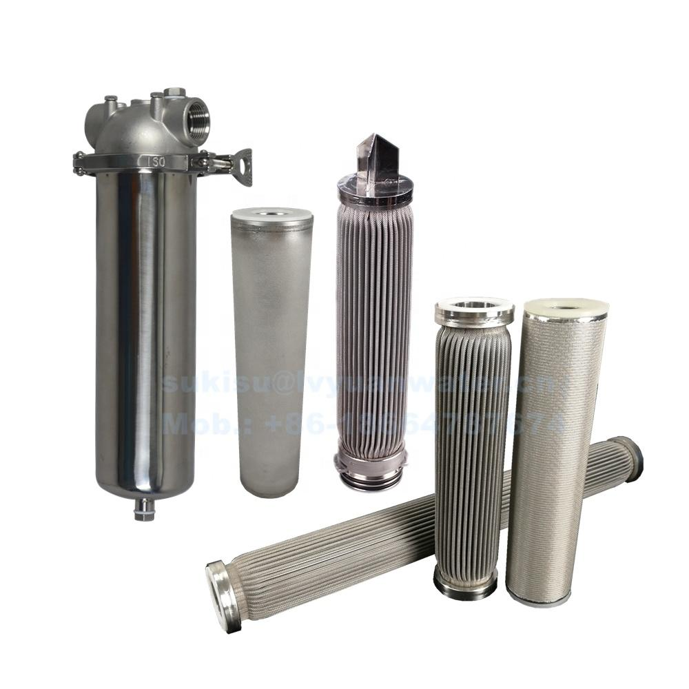 SUS304/316L SS Stainless Steel Cartridge 0.1 0.2 1 5 10 25 micron Filter Cartridge for oil/water/Chemical liquid Filtration
