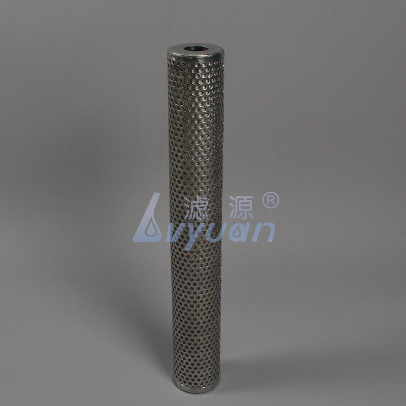 Standard & slim SUS304 316L SS powder media filter 10 20 30 40 50 microns sintered stainless steel filter for water treatment