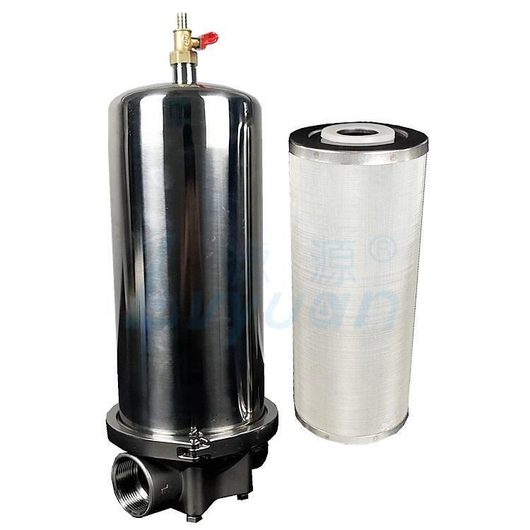 20 inch stainless steel sintered mesh filter cartridge with water filter housing for industrial liquids filtration