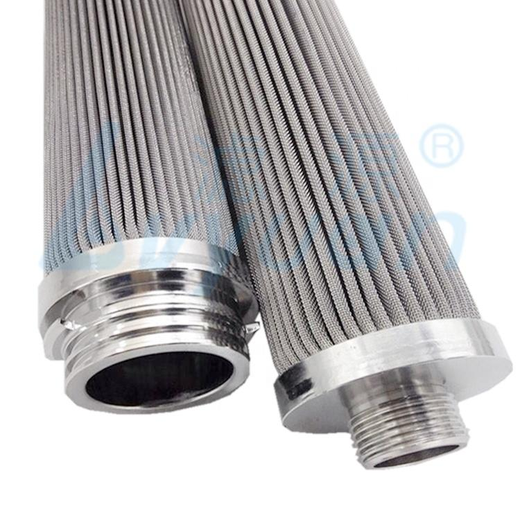 stainless steel pleated filter cartridge with ss316 or ss316L filter media to filter industrial liquid/water/oil