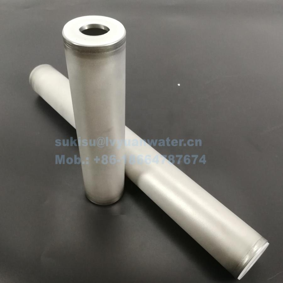0.2 1 3 5 10 Micron sinter SS 316L sintered porous metal powder stainless steel filter cartridge for oil chemical treatment