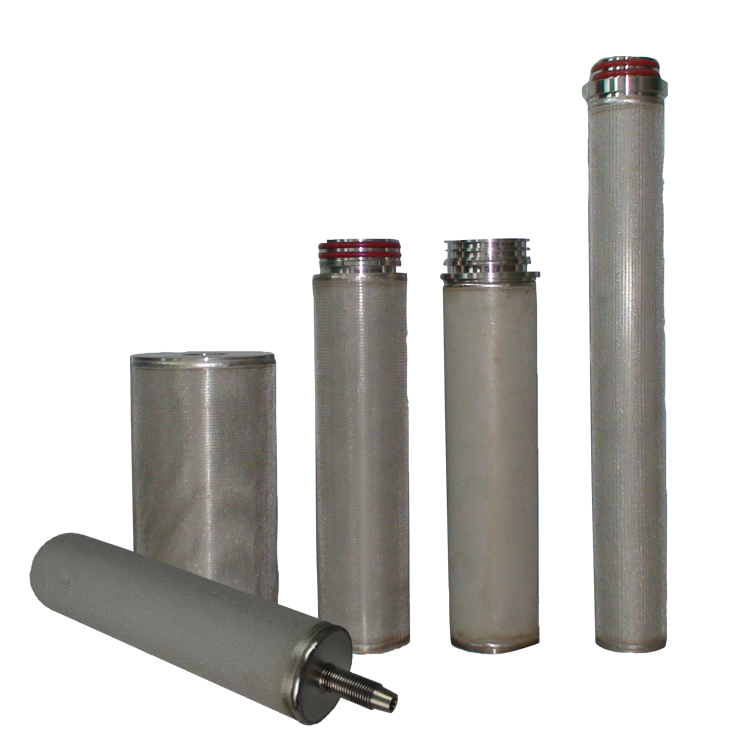 Factory Price ss 304 316 Stainless Steel Powder Sintered Metal Wire Mesh porous Filter Element Cartridge 1 um For Water