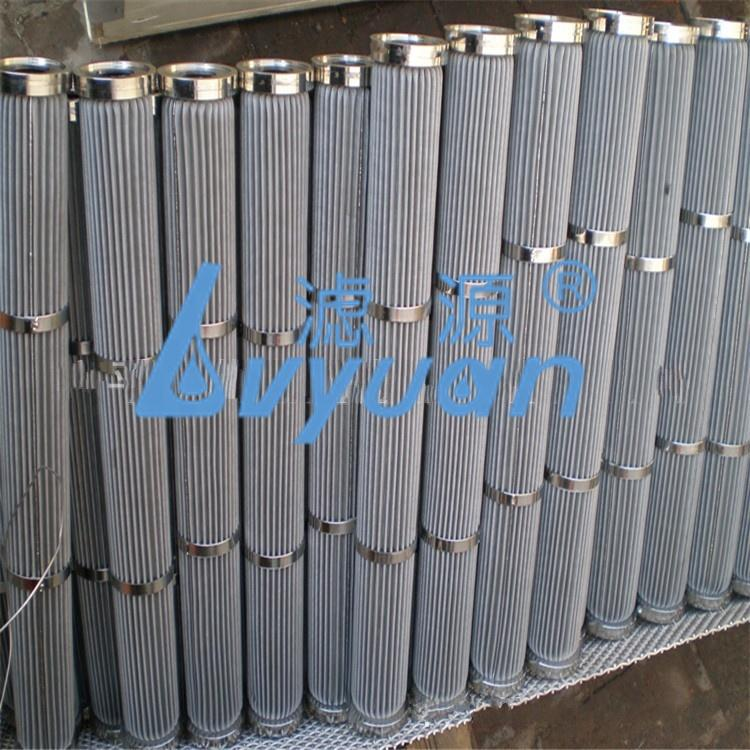 High Pressure SS Mesh 304/316L Stainless Steel Pleated Filter Cartridge with DOE 226/Fin 1 10 micron chemical filtration