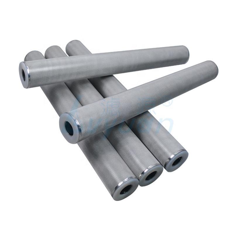 50 micron 100 micron stainless steel sintered mesh filter/porous metal filter cartridges 40 inch