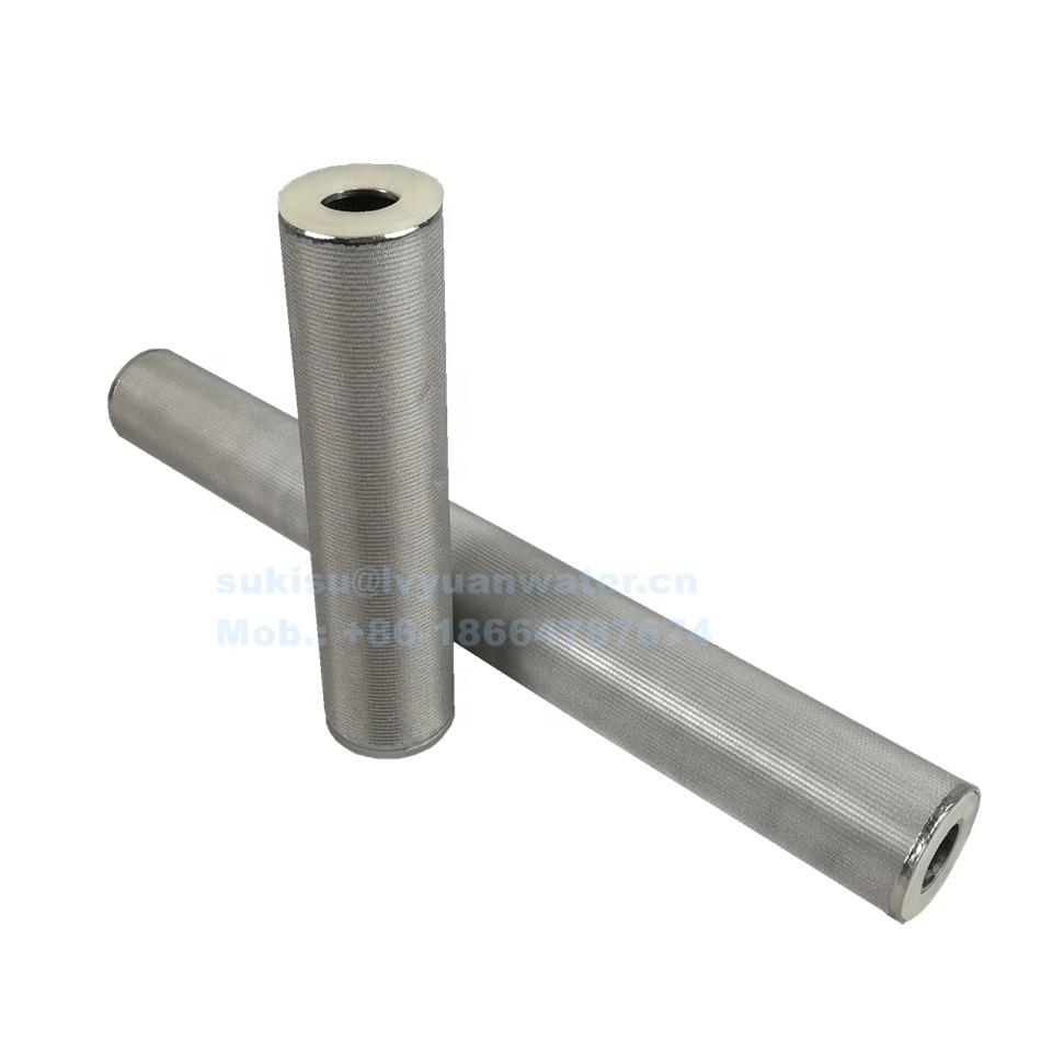 High Temperature 5 layers Cylindrical Sintered Metal Stainless Steel wire cloth filter Cartridge for filter oil solid liquid