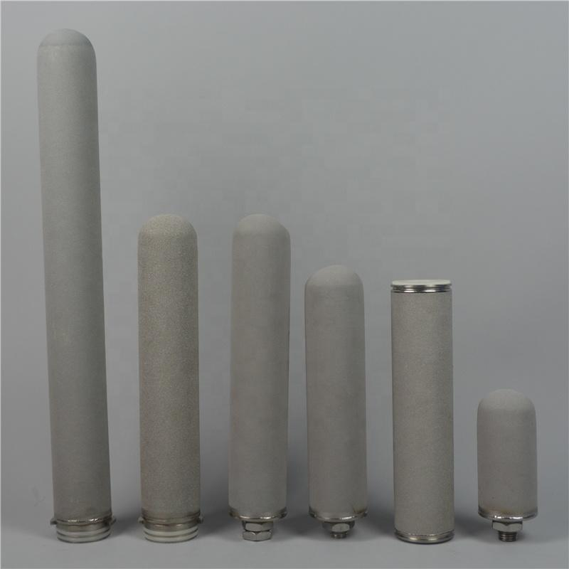 1 5 10micron sintered porous stainless steel SS316 metal powder filter cartridge for alkaline water filter