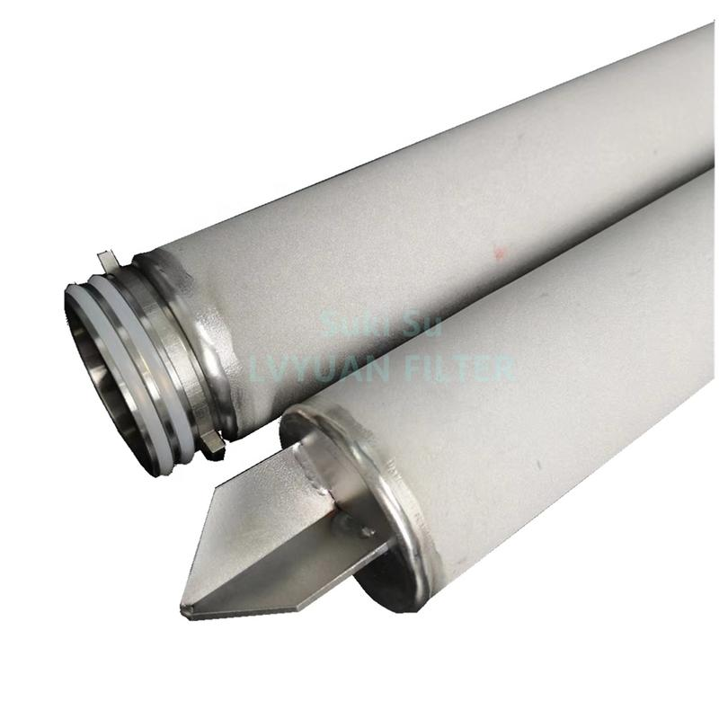 10 inch 0.2 micron 226/Fin/Flat adpator SS316 Stainless steel filter cartridge element for steam filter filtration