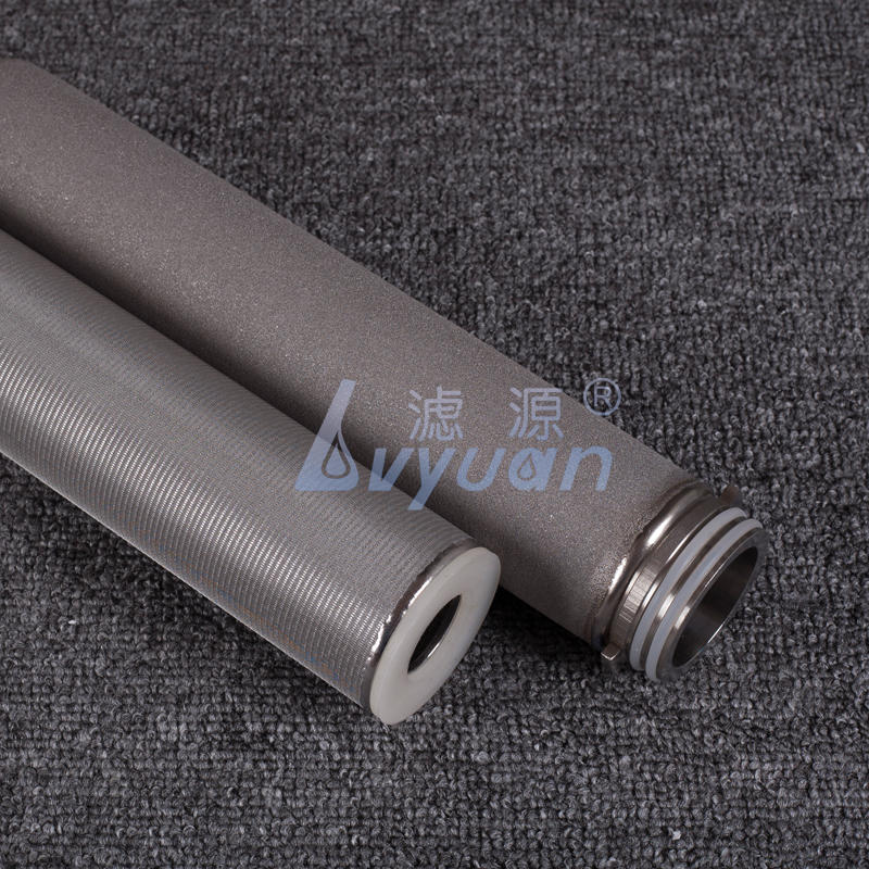 Pure SS304 316L 20 inch size 10 micron stainless steel pleated filter cartridge for water oil filtration system
