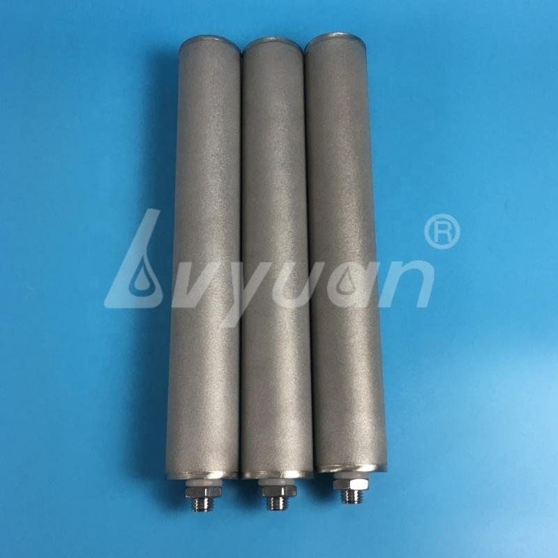 High temp Milli-poreMicron SS 304 316L sintered Powder Candle filter Element for water liquid air natural gas filtration