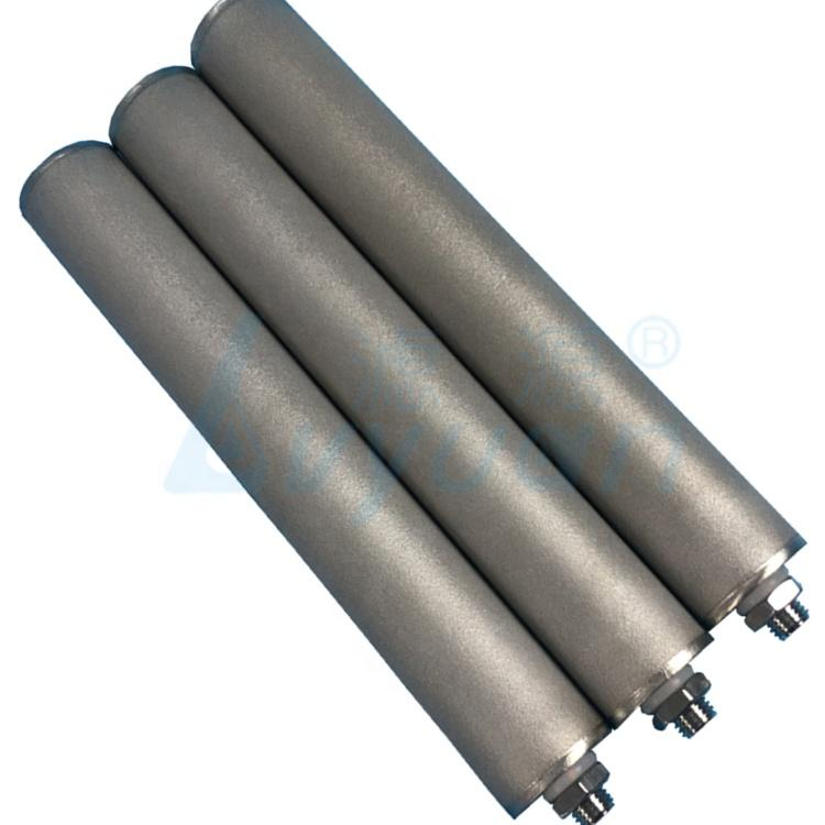 Reusable and washable sintered stainless steel filter tube 1 micron metal filter cartridge for water treatment