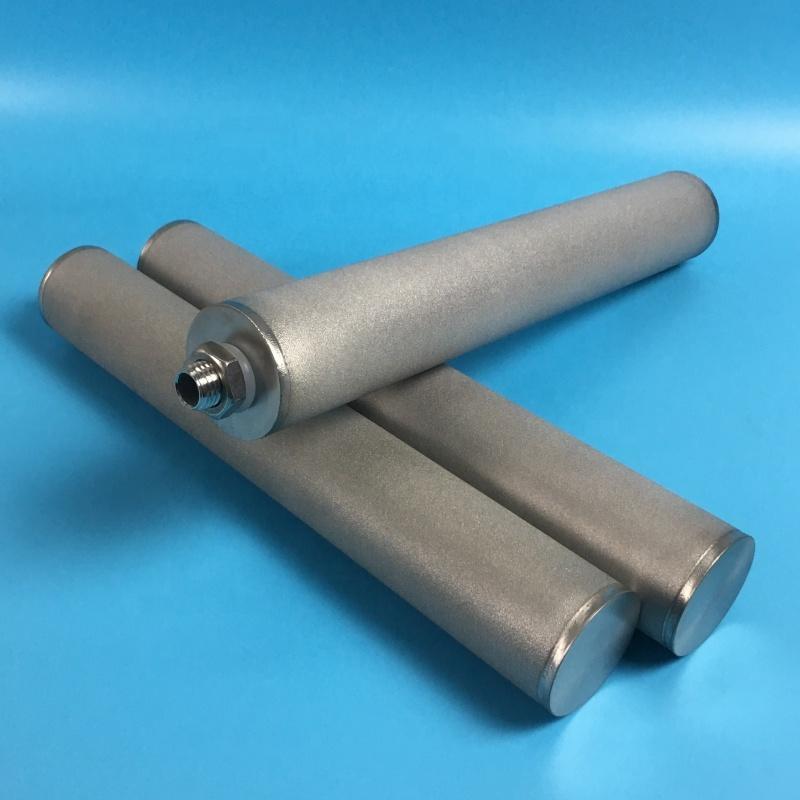 Porous SS/Titanium/Inconel-600 Sintered Metal Cartridge Filter for 0.2 1 3 um water liquid treatment filters cartridges factory