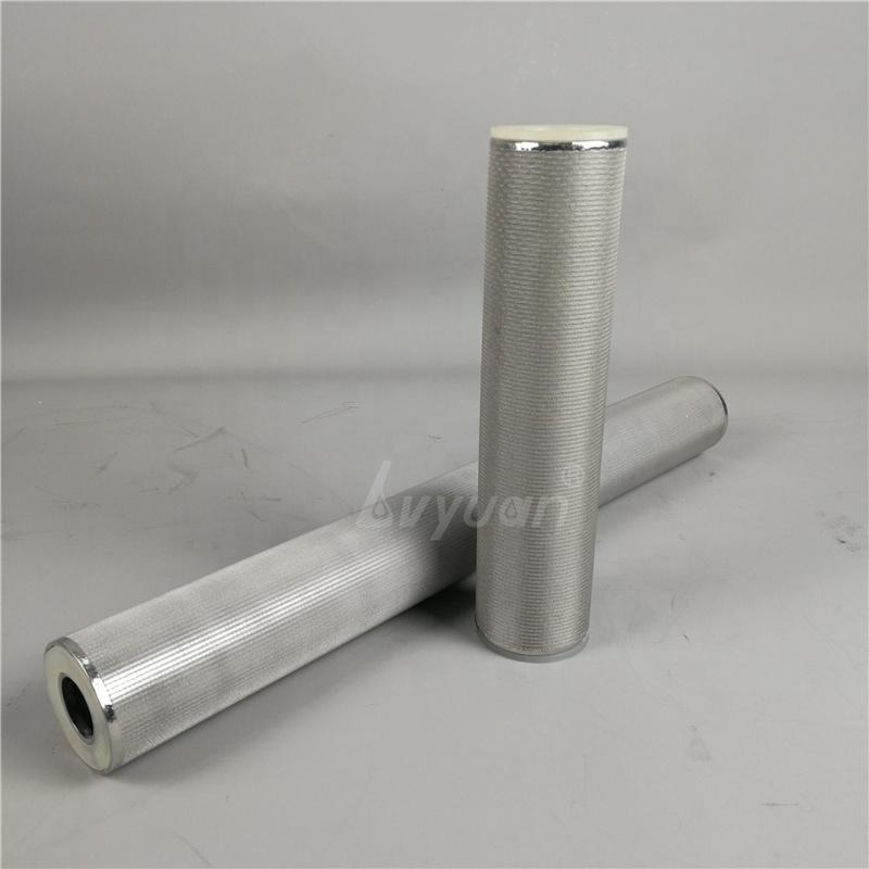 Cleanable 5 10 20 30 inch 1 5 10 25 50 80 100 microns Sintering SUS 304 316L Stainless Steel Mesh Cylindrical Filter Cartridge