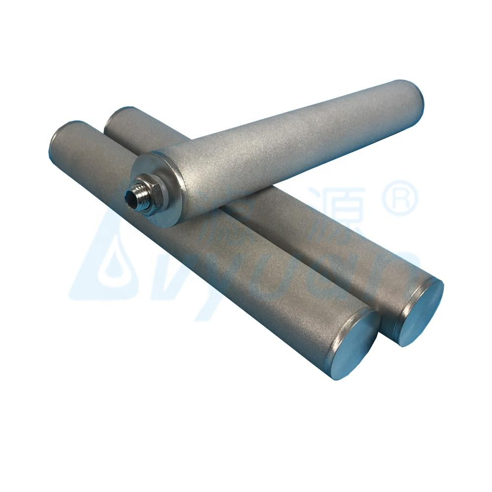 1 micron 10 inch ss sintered metal powder filter/cartridge filter stainless steel for liquid and oil filtration