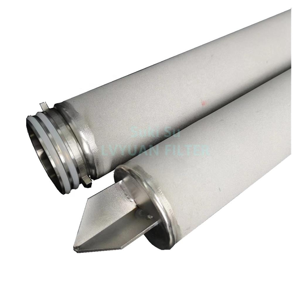 candle type liquid filter with plastic EPDM/Silicone gasket 10 microns doe sintered metal filter cartridge