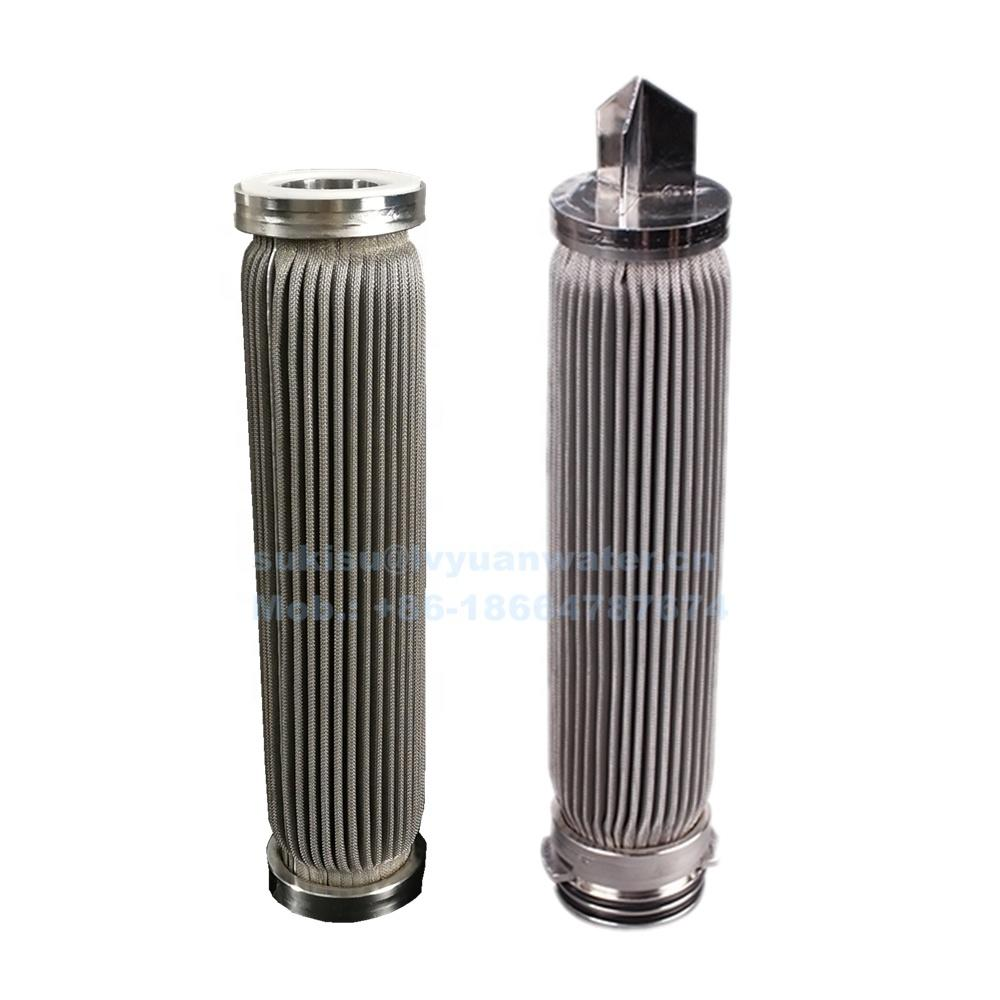 10/20/30/40 inch High Pressure Stainless Steel Pleated Filter Cartridge for oil water purification