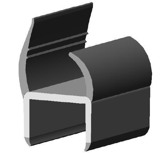 plastic truck door seal for van truck or trailer parts-072029