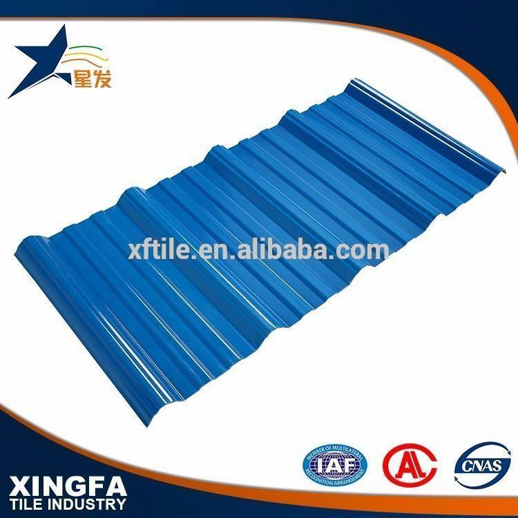 Newest technology APVC trapezium plastic sheet for roofing covering