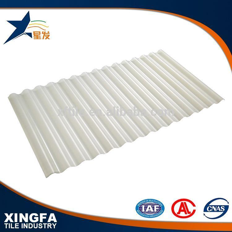 Corrosion resistance of acid and alkali transparent trapezium monier villa roof tile