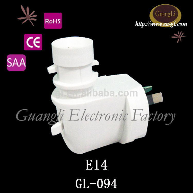 CE SAA lampholder 220-240V lamp holder electrical plug socket for night lights australia type e14 plastic lamp base