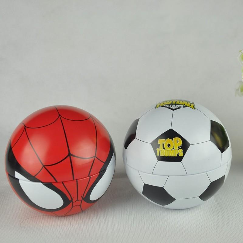 2018 best sale Christmas ball shaped personalized tin box