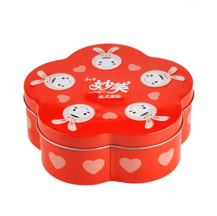 Lovely promotional small tin can fancy chocolate box wedding gift candy box metal