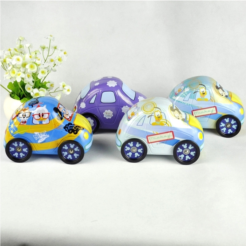 Customized car shape candy jar gift boxmetal chocolate packaging box