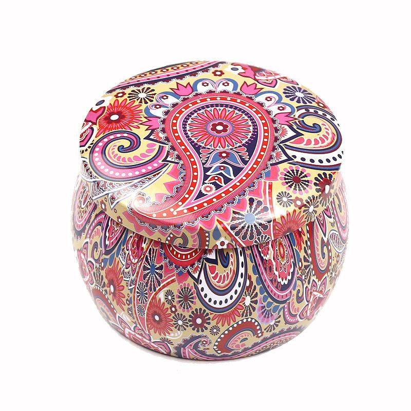 Round wedding candy tin box, two piece round tin