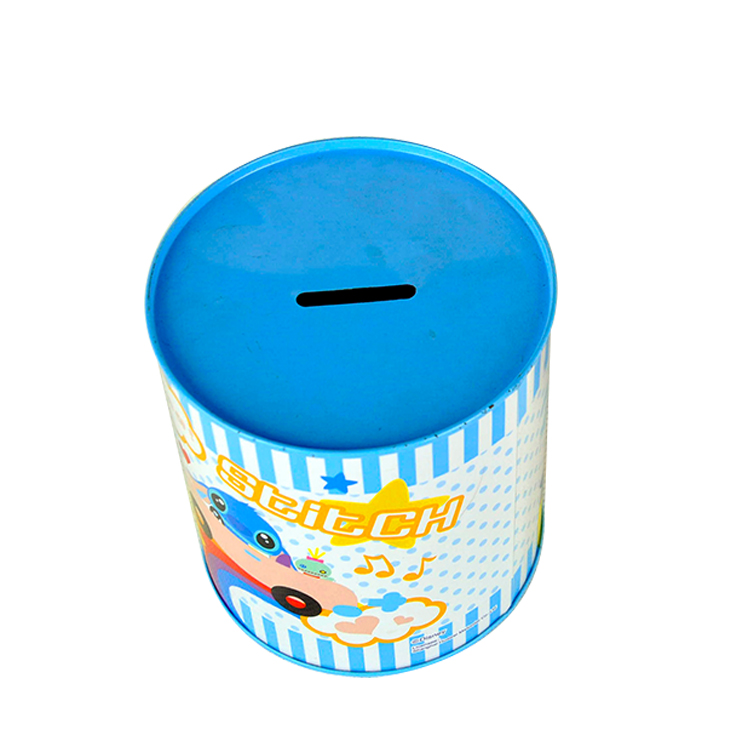 Wholesale round metal tin box for toffee chocolate sweet candies packaging tin box
