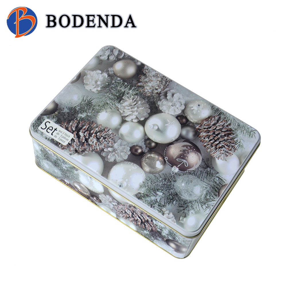 christmas metal tin box factory for packing