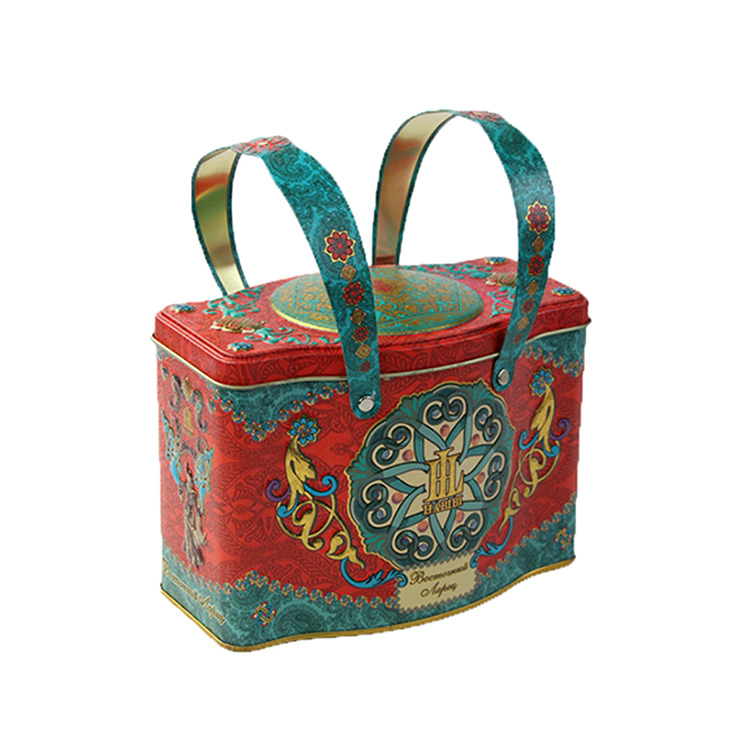 Vintage design hand held packaging box luxury decorative gift box for tea coffee storage container