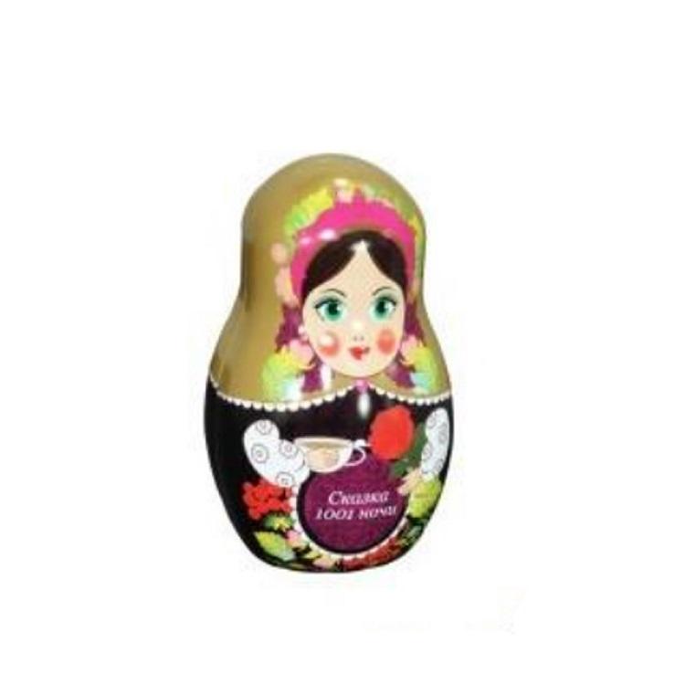 Wholesale Russian Nesting Dolls Packaging box Creative Children Candy Gift Tin Box