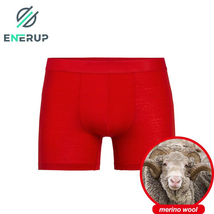 eneurp high quality compression merino wool bamboo pouch men's para hombre cuecas de mujer boxer shorts briefs underwear
