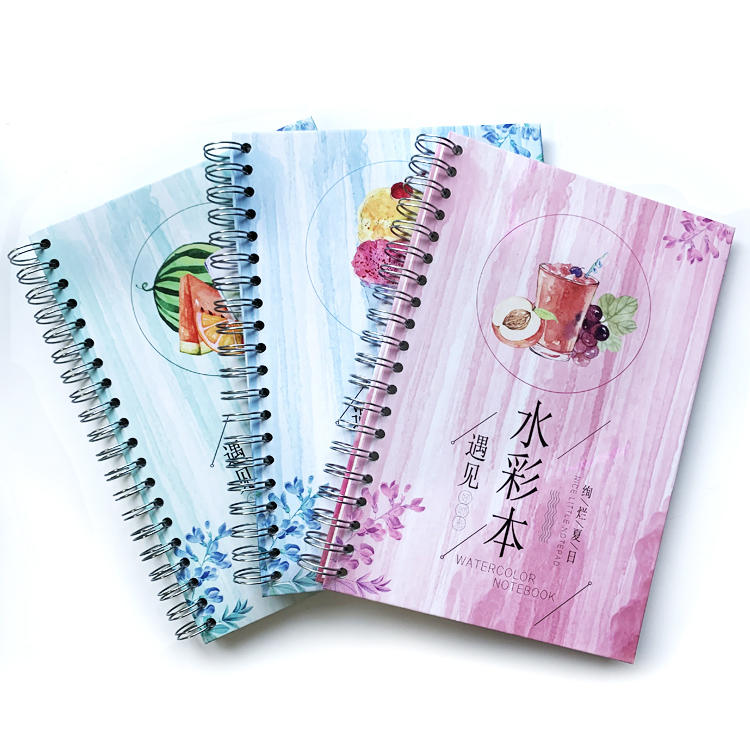 product-Dezheng-Custom Watercolor Drawing Paper Notebook For Kids Painting Notebook With Nice Paper -1