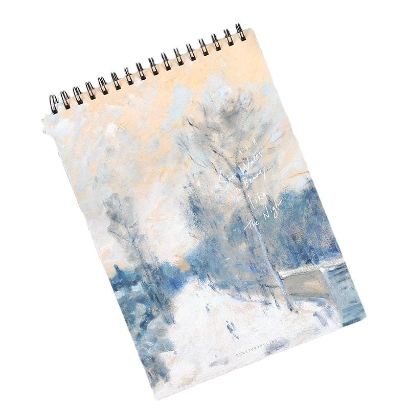 product-Customized Single Coil Book Binding Spiral Notebook To Draw Watercolor Sketchbook-Dezheng-im-1