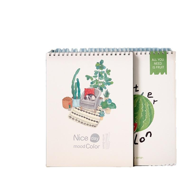 Recycled Watercolor Paper Logo PVC Plastic Spiral Coil Wiro Binding Notebook