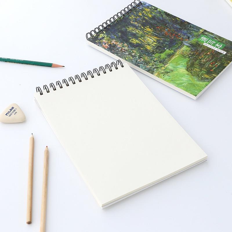 product-Cheap Price Thick Watercolor Paint Spiral Coil Wire O Ring Binding Drawing Notebook-Dezheng--1
