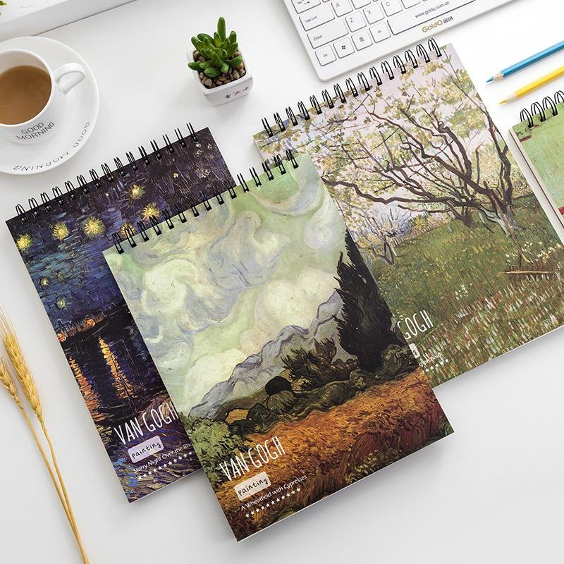 product-Dezheng-Customized Single Coil Book Binding Spiral Notebook To Draw Watercolor Sketchbook-im-1