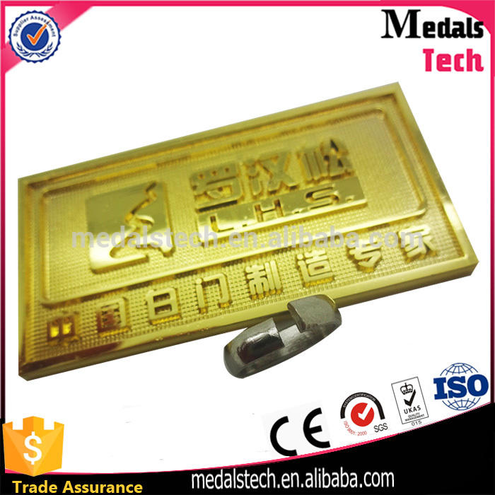 MedalsTech new products engraving brass logo name plate/ brass decoration/ brass tag