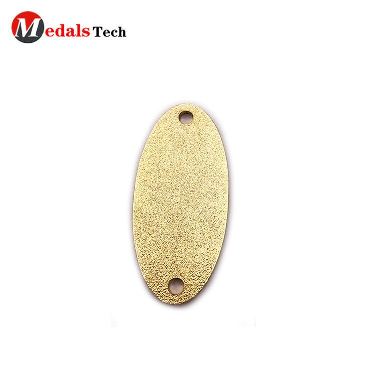 Creativeunique gold plating eye shapedmetal funny label