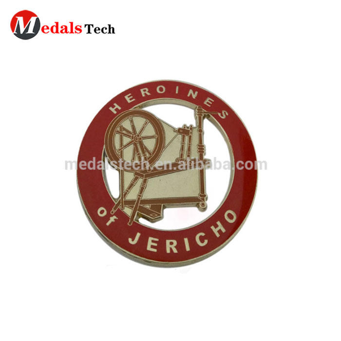 High quality die casting 24k rose gold custom metal label logo plate for clothing