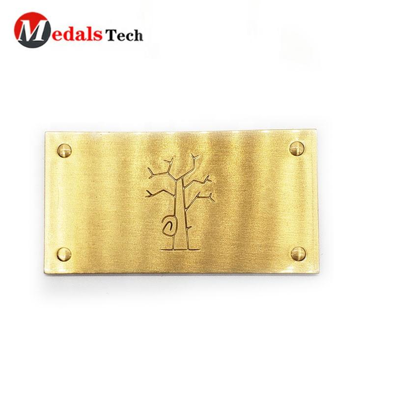 Free sample customized quality brass logo nameplate for furniture,metal tag label,metal wine label