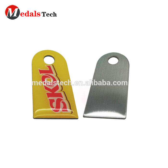 Custom metal cheapp zipper puller charm with printed logo
