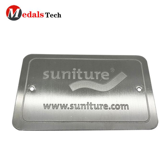 OEM customized promotional logo aluminum metal card nameplate